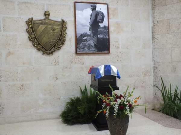 En el Salón Jimaguayú de la Plaza de la Revolución en Camagüey reposaron las cenizas de Fidel a su paso por Camagüey