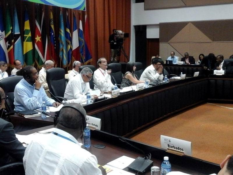 El Vice ministro del MINREX agradece presencia de todas las delegaciones en esta VII Cumbre de la AEC