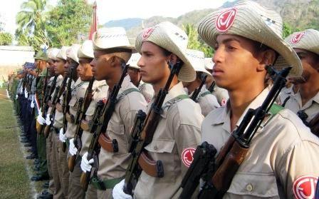 Ceremonia militar en honor a los m�rtires del III Frente Oriental Mario Mu�oz. Foto: Carlos Sanabia Marrero