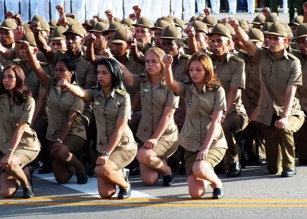 Acto de juramentación en la Graduación de la promoción Aniversario 60 del Asalto a los Cuarteles Moncada y Carlos Manuel de Céspedes . Foto: Abel Rojas