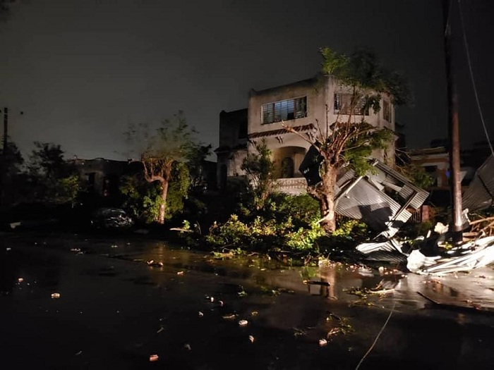 Cuban authorities visit sites affected by tornadoes in the capital