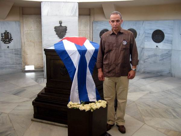 Homenaje de Antonio Guerrero a José Martí. Foto: Sergio Martínez