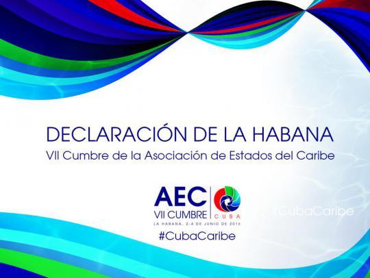 Declaración de La Habana VII Cumbre AEC.