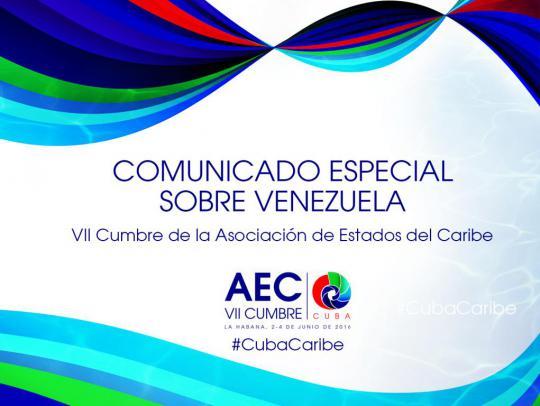 Comunicado Especial acerca de Venezuela.