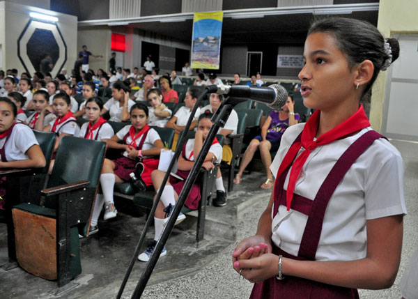 Los pioneros cubanos celebran su Asamblea Nacional