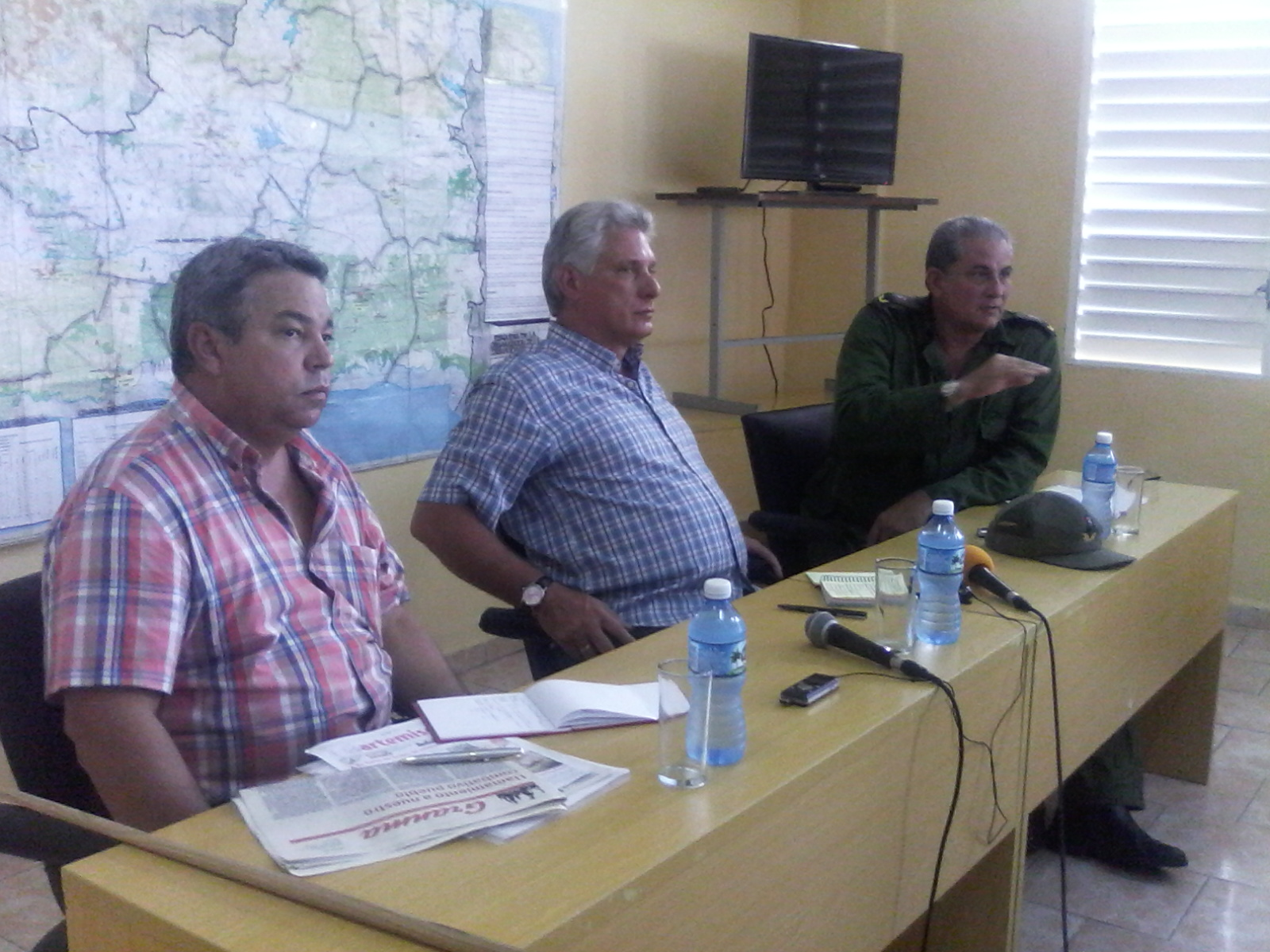 Asiste Díaz-Canel a Consejo de Defensa en Mayabeque