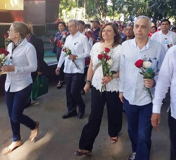 Rinde tributo José Ramón Balaguer a héroes de la Revolución Sandinista
