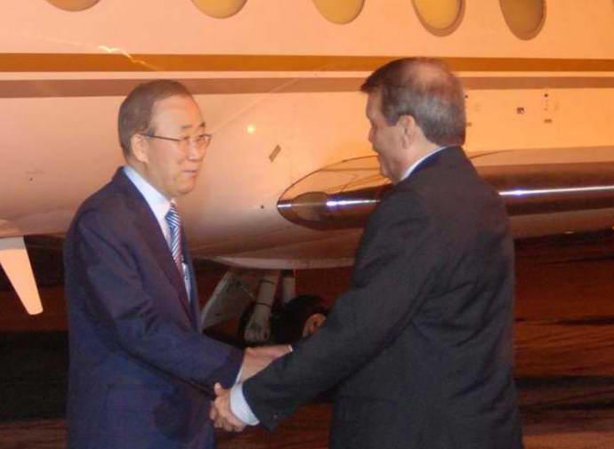 Ban Ki Moon arrives in Havana for Colombian ceasefire accord
