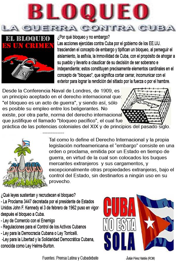 Resultado de imagen de Bloqueo de Cuba por los EEUU
