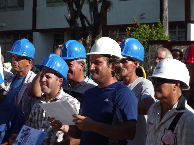 Proeza de constructores en Sancti Spíritus