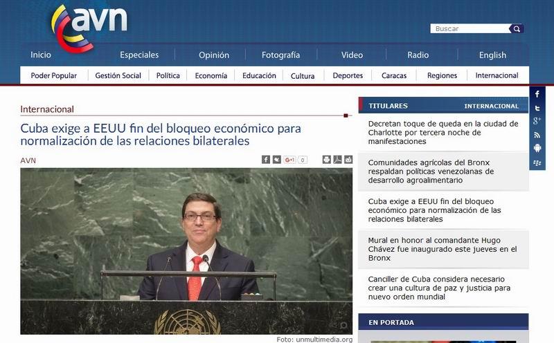 Discurso de Canciller cubano en ONU concita repercusi�n en prensa internacional (+Audio)