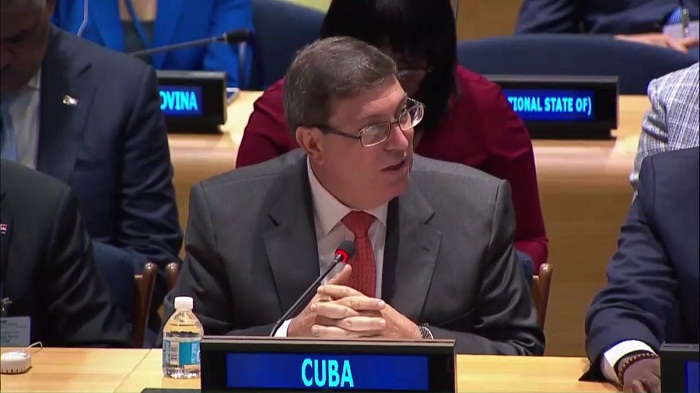 Participa canciller cubano en reunión de Naciones Unidas sobre daños de huracán Irma