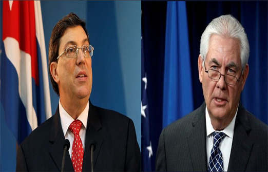 Cuban Foreign Minister meets with US Secretary of State
