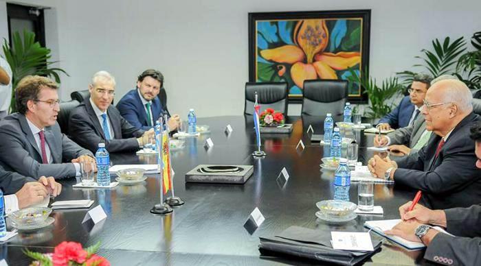 Recibe Ricardo Cabrisas al Presidente de la Junta de Galicia