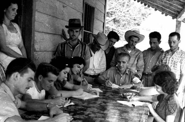 Campaña Nacional de Alfabetización protagonizada en 1961