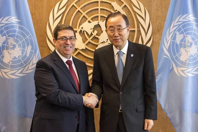 Sostuvo canciller cubano encuentro con Secretario General de Naciones Unidas