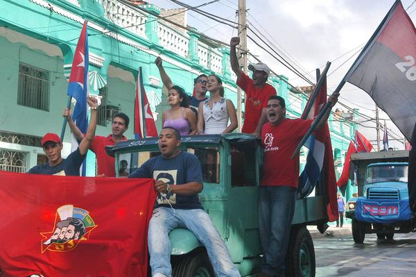 Caravana de la Libertad tras su paso por Ciego de Ávila