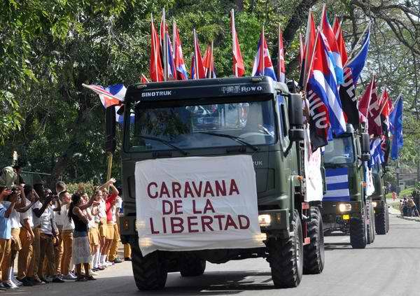 Llega a La Habana Caravana de la Libertad. Foto Marcelino Vázquez