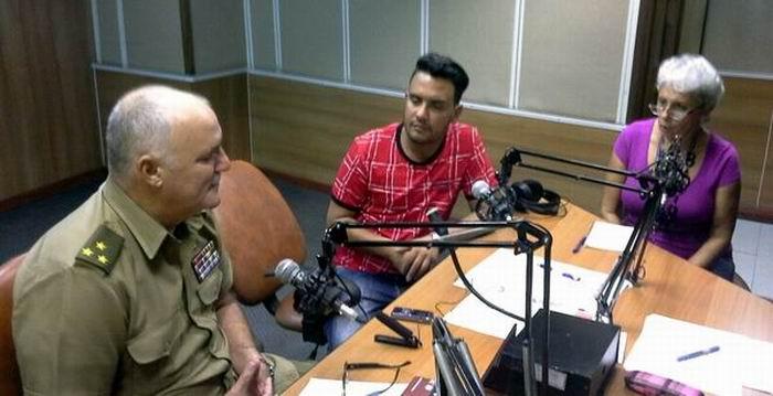 El Coronel Orlando Cardoso Villavicencio, compareció  en Haciendo Radio