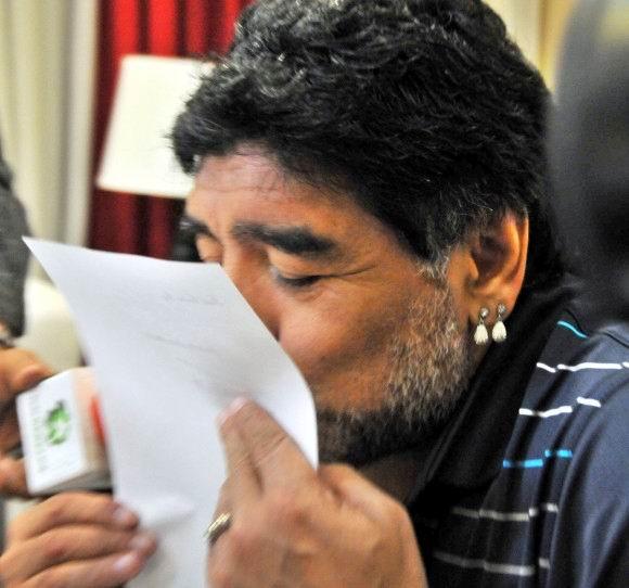 Carta de Fidel Castro Ruz a Diego Armando Maradona, 12 de enero de 2015. Foto: Ricardo López Hevia