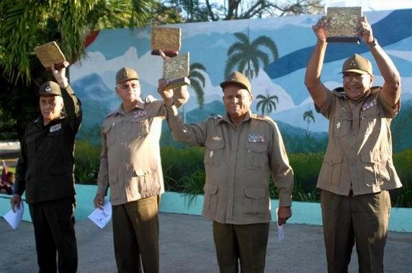 Acto central  por el aniversario 55 de la liberación de Cayo Mambí en Holguín, Cuba, Foto: Aroldo García