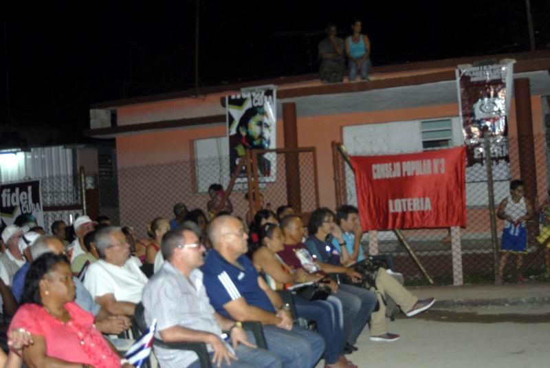 Jornada por el Deber Patrio y Antiimperialista, efectuado en la Zona 65 del Consejo Popular Lotería, en el municipio capitalino del Cotorro. Foto: Carlos Serpa