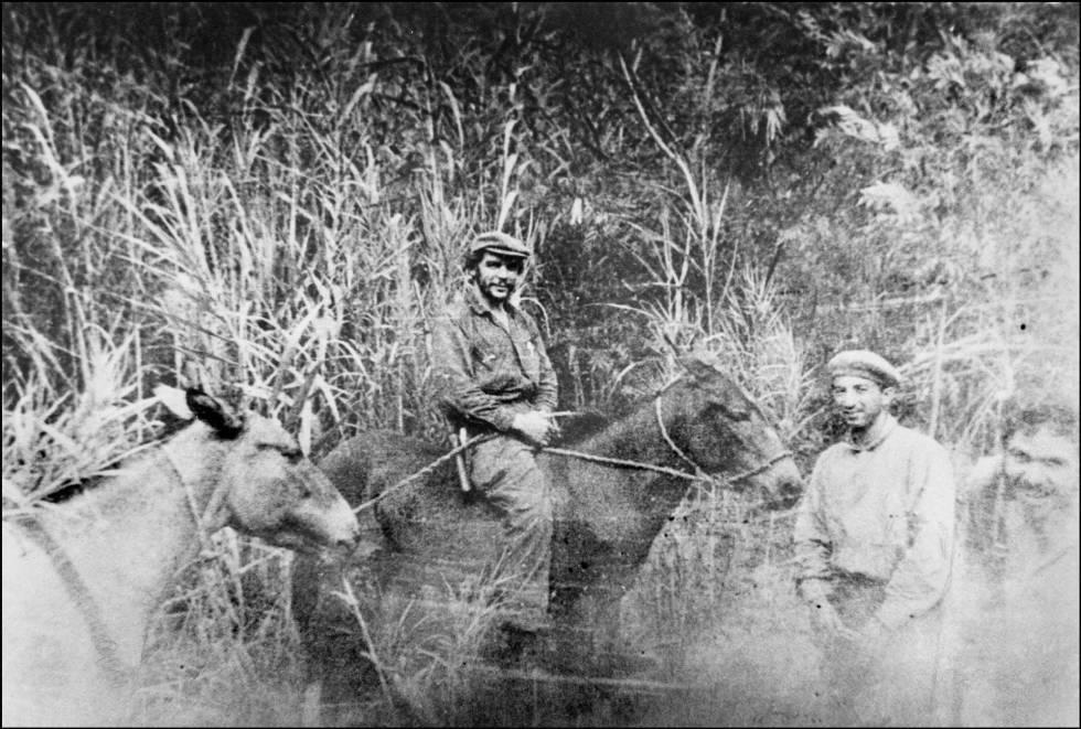 Che Guevara, su camino a la cima del volcán Popocatépetl