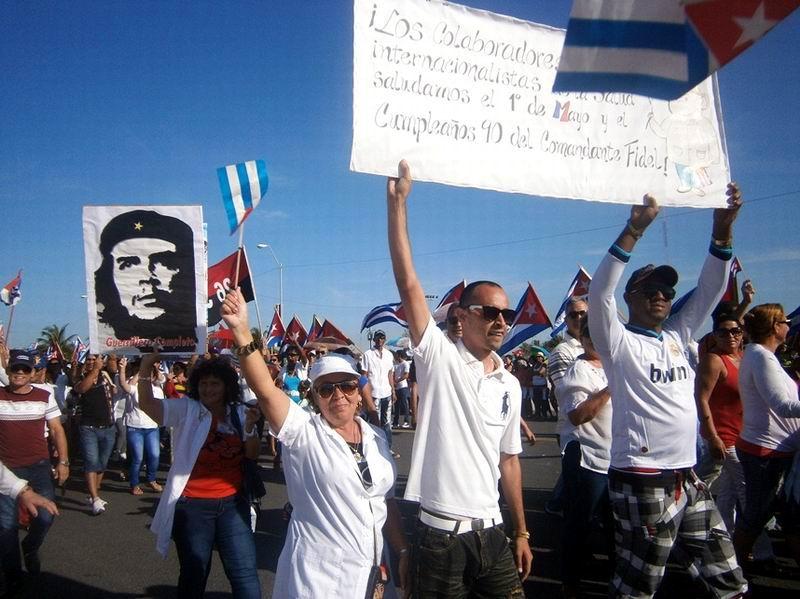 Cienfuegos protagonizó un desfile histórico. Foto: Mireya Ojeda