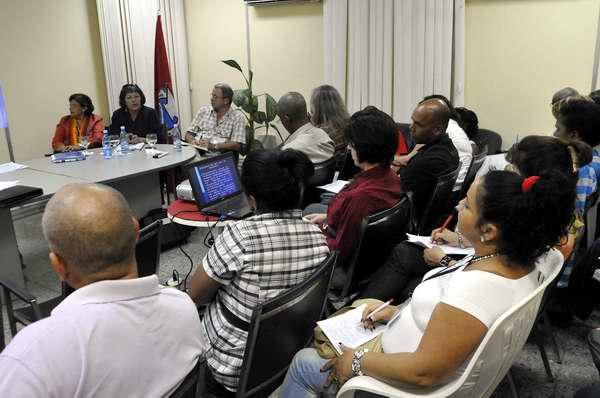 Comisión de delegados obreros al XX Congreso de la CTC. Foto Roberto Morejón