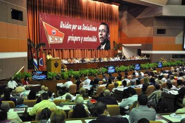 XX Congreso de la Central de Trabajadores de Cuba. Foto Marcelino Vázquez