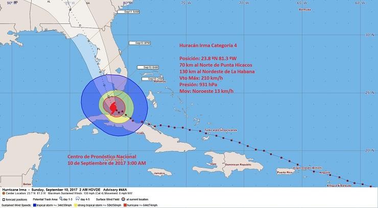 Huracán Irma se aleja de Cuba