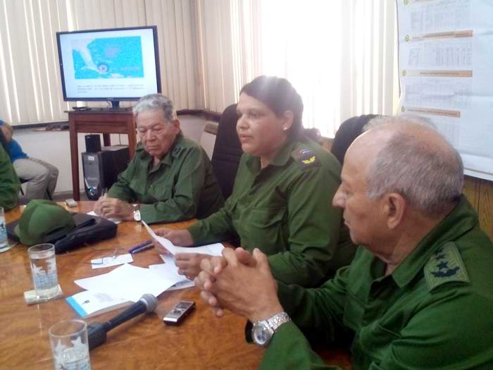Consejo de Defensa en La Habana evalúa medidas para enfrentar el Huracán Irma . Foto: Carlos Serpa