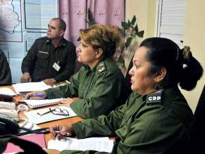 En completa disposición para la defensa Consejo Provincial  de Cienfuegos. Foto Cinco de Septiembre