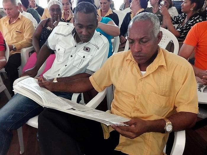 Análisis y debate popular del Proyecto de Constitución de la República de Cuba, se desarrolló en Birán