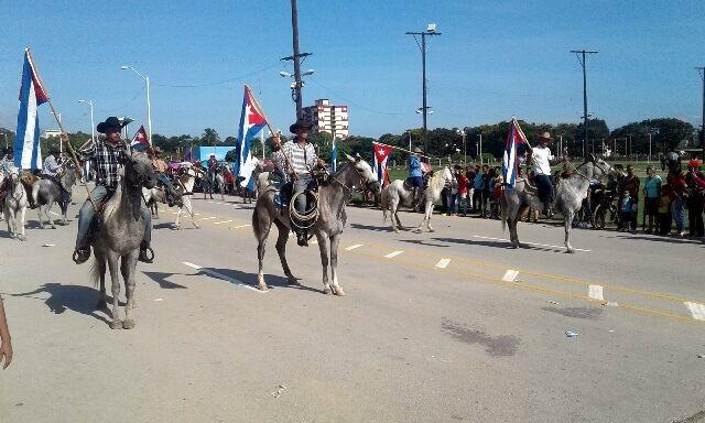 Masivo desfile por el 1ro. de Mayo en Guantánamo