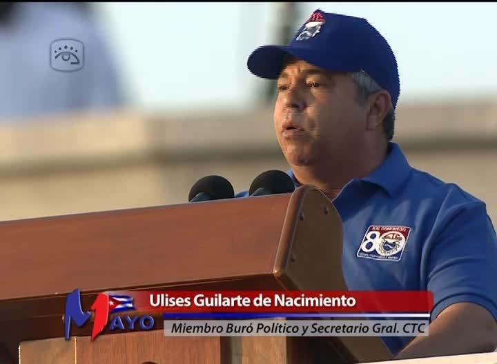 Ulises Guilarte de Nacimiento, miembro del Buró Político del Comité Central del Partido Comunista de Cuba y Secretario General de la Central de Trabajadores de Cuba