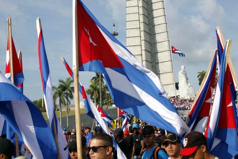 Desfile por el Día Internacional de los Trabajadores, en la Plaza de la Revolución de La Habana, Cuba, el 1 de mayo de 2018. ACN FOTO/ Ariel LEY