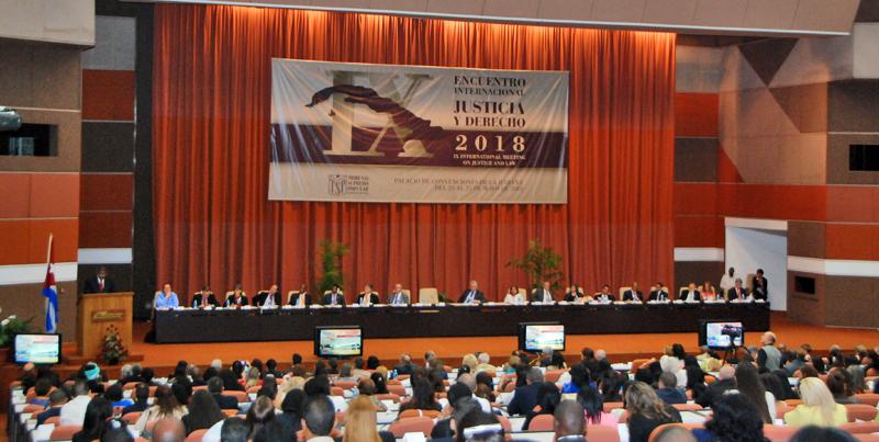 Asiste Díaz-Canel al IX Encuentro Internacional Justicia y Derecho