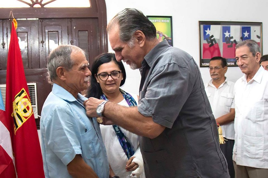 Oscar Lopez Rivera Receives the Mehdi Ben Barka Solidarity Order