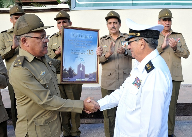 Celebran 35 años de la Escuela Militar Superior Comandante Arides Estévez