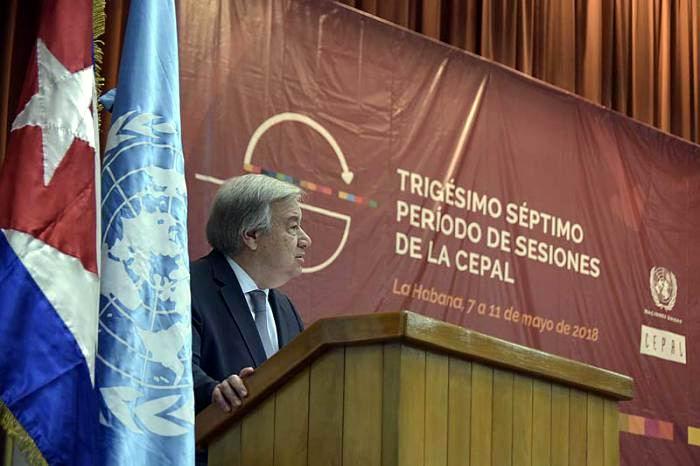 António Guterres, Secretario General de la ONU. Foto: Estudios Revolución