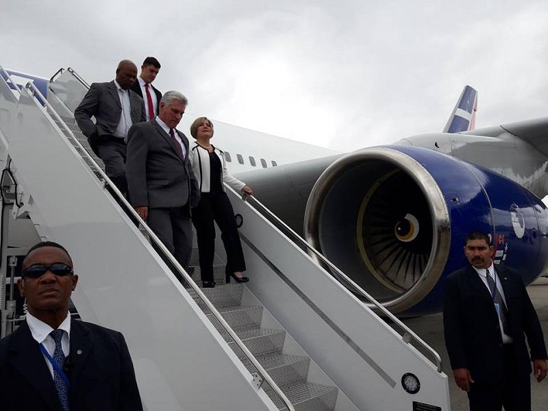 Díaz-Canel arriba a Nueva York para participar en reunión de la ONU