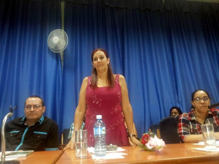Coordinadora municipal de los CDR, Normelis Adames Sánchez. Foto: Carlos Serpa