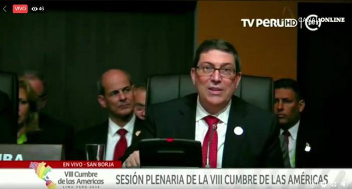 """""""Cuba no aceptará amenazas ni chantajes del gobierno de Estados Unidos"""""""