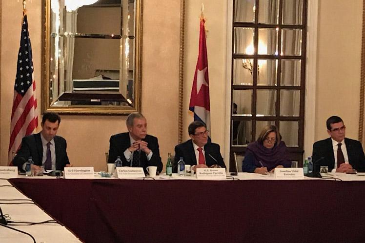 Dialogó Canciller cubano con empresarios norteamericanos en Estados Unidos