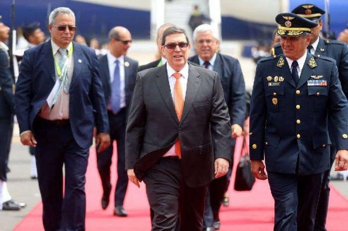 En Lima, canciller cubano, Bruno Rodríguez Parrilla