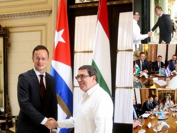 Recibe canciller cubano a su homólogo de Hungría