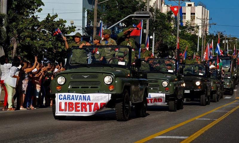 Rememoran en la Habana entrada de Fidel y el Ejército Rebelde