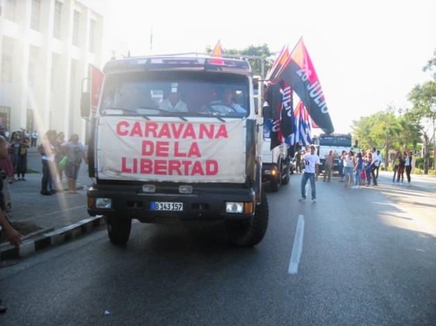 Partió desde la Ciudad Heroica la Caravana de la Libertad