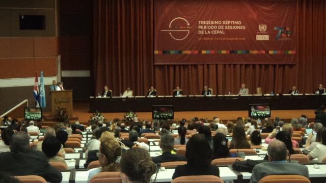 Continúan sesiones de trabajo de la CEPAL en La Habana